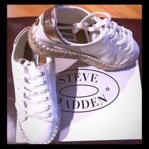 NWT Steve Madden Espadrille Sneakers SZ 7.5 White